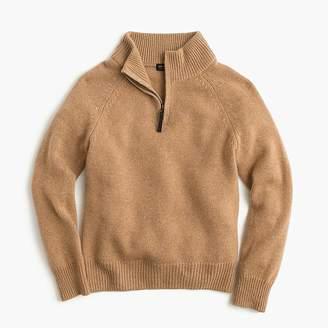 J.Crew Boys' cashmere half-zip sweater