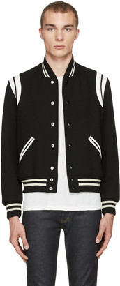 Saint Laurent Black Teddy Bomber Jacket $2,390 thestylecure.com