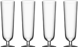 Orrefors Beer Collection Pilsner Glass, Set of 4