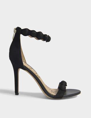 Sam Edelman Addison Studded Sandals in Black Diva Suede