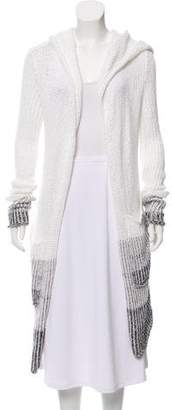 Casmari Hooded Open Front Cardigan