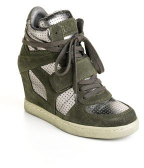 Ash Cool Leather Wedge Sneakers