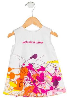 Agatha Ruiz De La Prada Girls' Splatter Print Dress w/ Tags