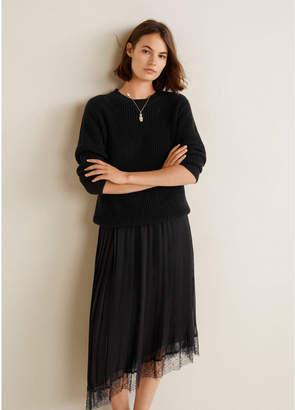 MANGO (マンゴ) - MANGO スカート .-- PLEE-A (ブラック)