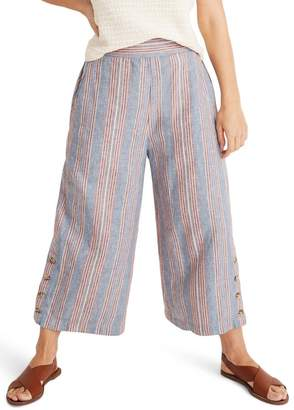 Madewell Huston Side Button Pull-On Crop Pants (Regular & Plus Size)