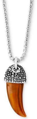 Effy Men's Tiger's Eye Horn Pendant Necklace in Sterling Silver