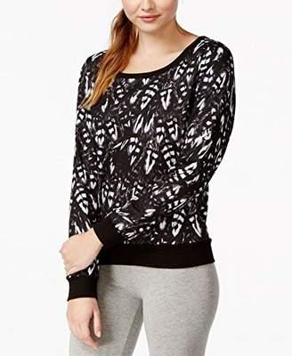 Jessica Simpson Juniors' Printed Twist-Detail Sweatshirt Feather