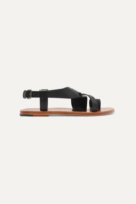 Bottega Veneta Woven Leather Sandals - Black