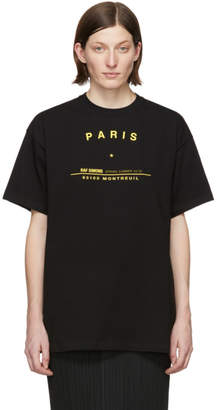 Raf Simons Black Tour Big Fit T-Shirt