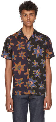 Paul Smith Black Mixed Flower Print Casual Shirt