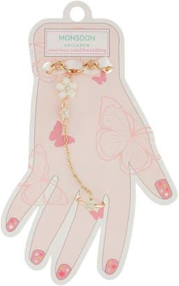 Monsoon Jewel Flower Linked Bracelet & Ring