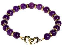 Belle Noel by Kim Kardashian Rams Head Charm Bracelet Purple