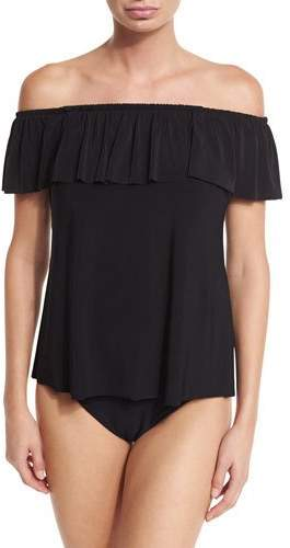 Magicsuit Kris Off-the-Shoulder Tankini Swim Top, Black