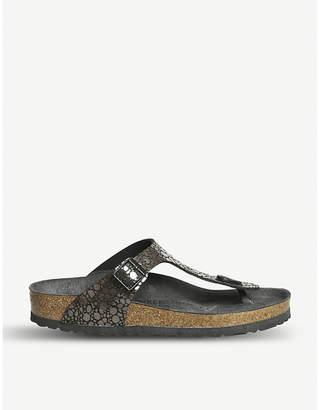 Birkenstock Gizeh metallic sandals