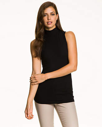 Le Château Rib Knit Mock Neck Top