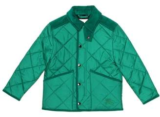 Burberry Quilted corduroy-trimmed jacket