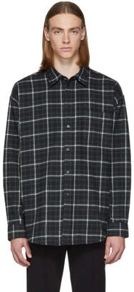 Balenciaga Green and Black Check Flannel Shirt