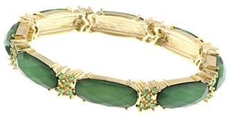 1928 Jewelry Gold-Tone Orange Faceted Stretch Bracelet of 17cm g3OvjeZUiH