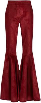 Ellery Jacuzzi high-rise ruffled-cuff corduroy trousers