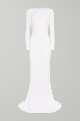 Stella McCartney Open-back Stretch-crepe Gown - White