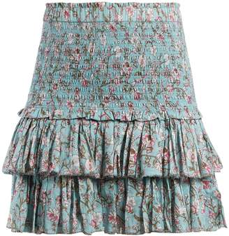 Etoile Isabel Marant Naomi floral-print ruffle-trimmed skirt