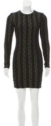 Torn By Ronny Kobo Metallic Mini Dress