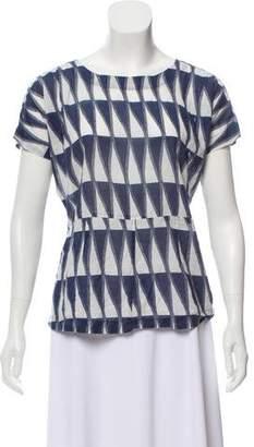 Figue Printed Short Sleeve Top