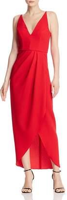 Aqua Draped Crepe Gown - 100% Exclusive