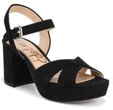 Sam Edelman Jolene Suede Platform Ankle-Strap Sandals