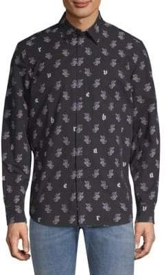 Diesel Rabbit Graphic Button-Down Shirt