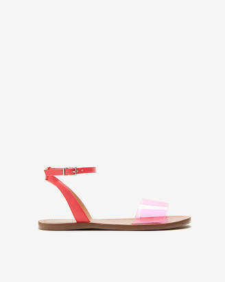Express Vinyl Band Ankle Strap Sandals