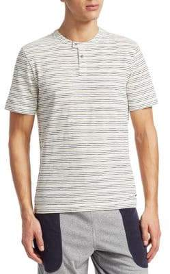 Madison Supply Multicolored Stripe Short-Sleeve Henley