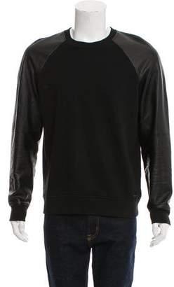 Michael Kors Leather Trimmed Sweatshirt