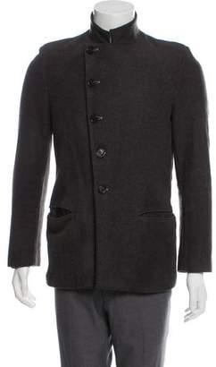 Ann Demeulemeester Wool Peak-Lapel Coat