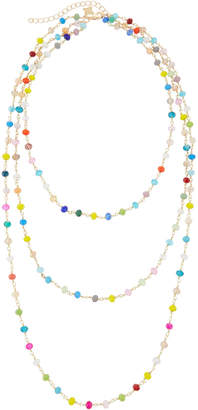 Panacea Three-Row Multicolor Crystal Necklace