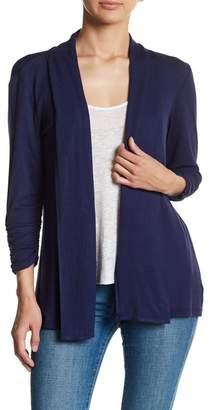 Bobeau Shawl Collar 3\u002F4 Length Sleeve Cardigan