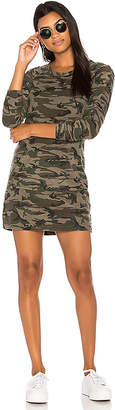 Bobi Textured Camo Sweatshirt Dress