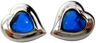 Saint Laurent Vintage Blue Silver Earrings