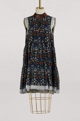 Chloé Pleated mini dress