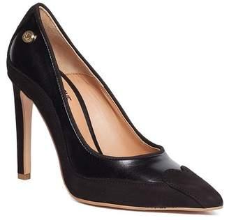 Love Moschino Leather Contrast Stiletto Pump