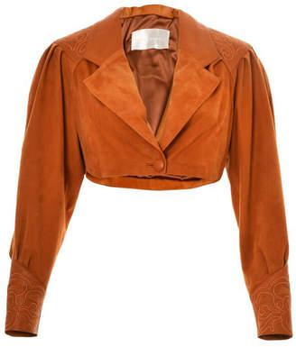 Lilly Sarti Cropped Leather Bolero