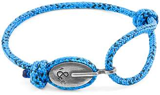 ANCHOR & CREW - Blue Noir London Silver & Rope Bracelet