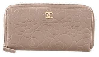 Chanel Camellia Zip-Around Wallet