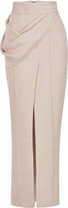 Maticevski Finite Draped Slit Crepe Pencil Skirt Size: 10