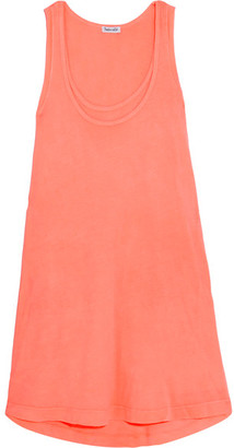 Splendid - Vintage Whisper Supima Cotton-jersey Mini Dress - Coral $140 thestylecure.com