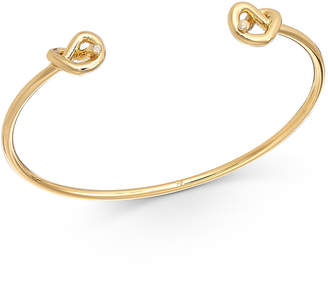 Kate Spade Gold-Tone Crystal Accented Wire Cuff Bracelet