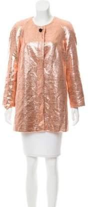 Tanya Taylor Metallic Evening Jacket