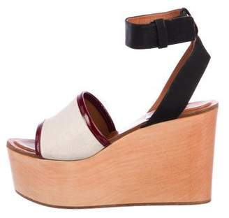 Celine Wooden Wedge Sandals
