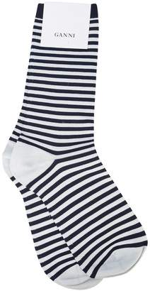 Ganni striped ankle socks