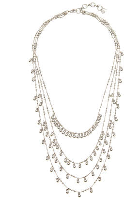Lucky Brand SILVER MULTI LAYER NECKLACE